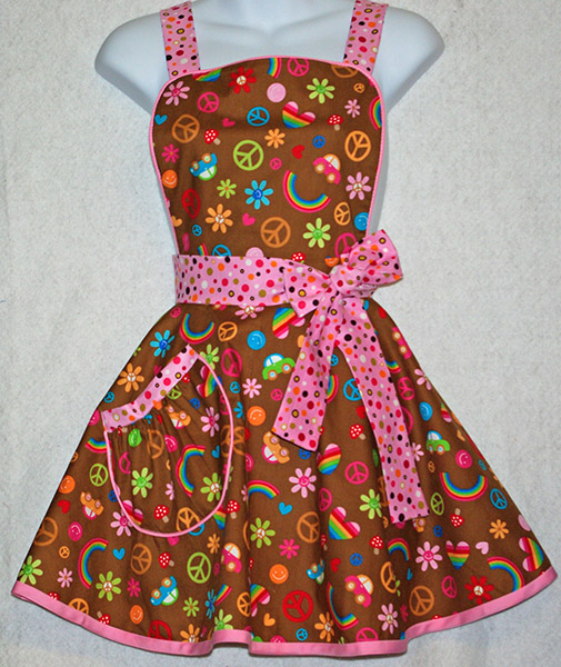 Peace and Love 60's Apron