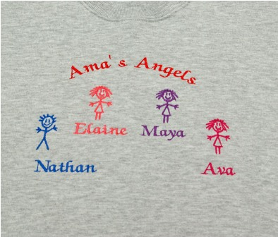 Ama's Angels Personalized Sweatshirt
