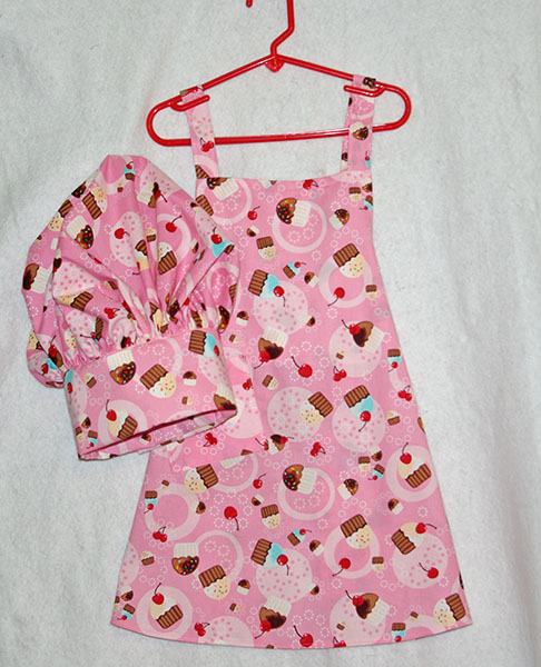 Cupcake Kids Apron & Chef Hat