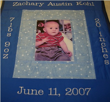 Baby Boy Photograph Wall Hanging
