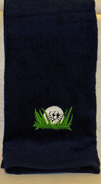 Golf Ball In The Grass Towel
