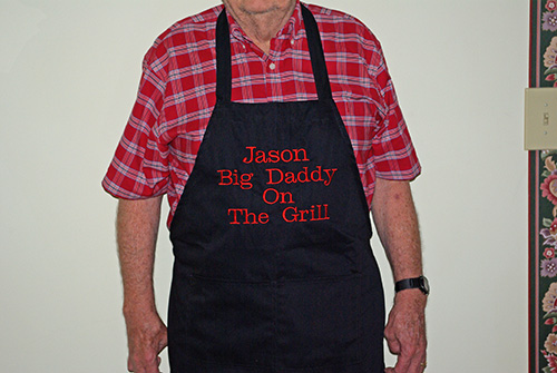 Big Daddy on the Grill Personalized Apron