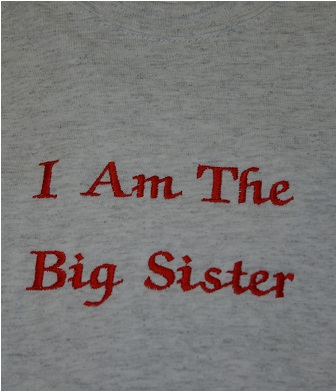 I am The Big Sister Adult Size Tee