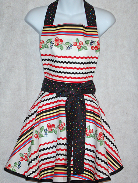 Sweet Cherry Diva Apron