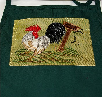 Chicken On Green Apron