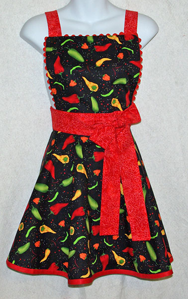 Chili Pepper Diva Apron