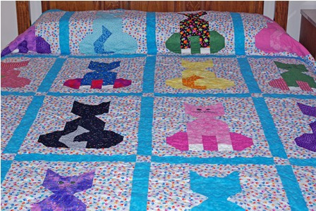 Colorful Cats Quilt