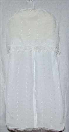 Cream Eyelet Diaper Stacker
