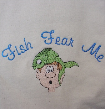 Fish Fear Me Apron