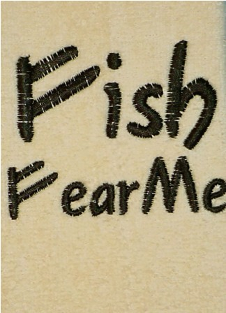 Fish Fear Me Fingertip Towel