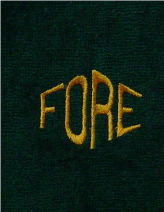 Fore Golf Towel