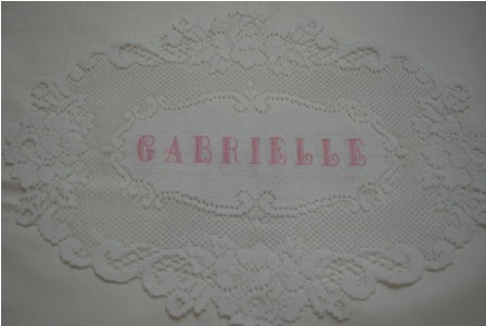 Embroidered Name Doily #4