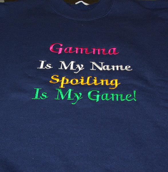 Gamma Is My Name Sweatshirt