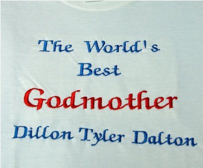 The World's Best Godmother Personalized tee