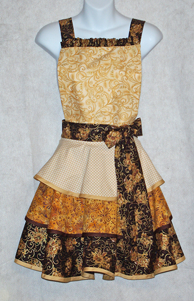 Golden Chocolate Diva Apron