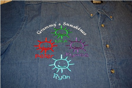 Grammy's Sunshines Denim Shirt