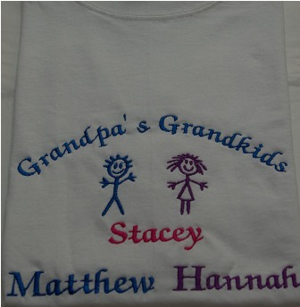 Grandpa\'s Grandkids with 3 names Tee