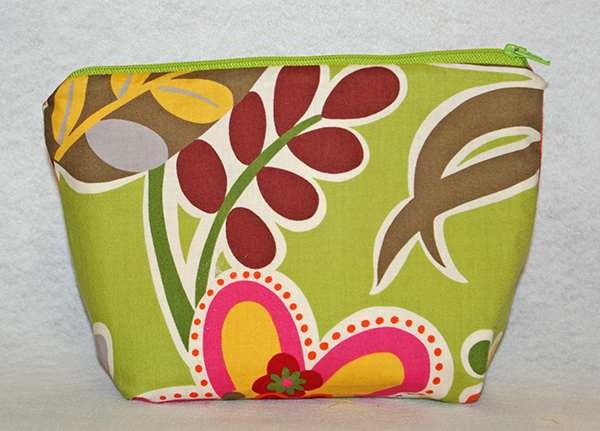 Lime Green Cosmetic Bag