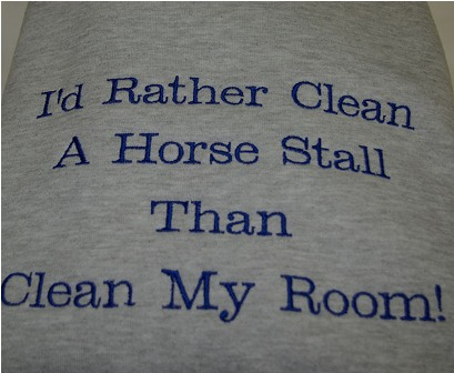 I'd Rather Clean A Horse Stall Tee