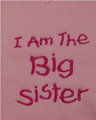 I Am The Big Sister Sweatshirt