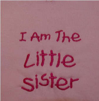 I Am The  Little Sister Sweatshirt