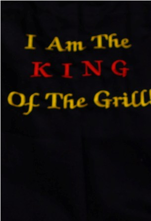 I Am King of The Grill Apron