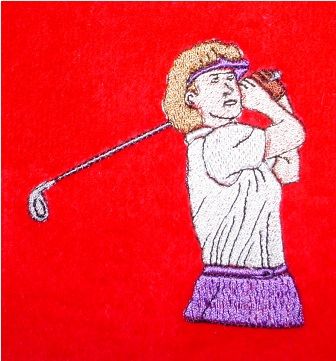 Lady Golfer Golf Towel