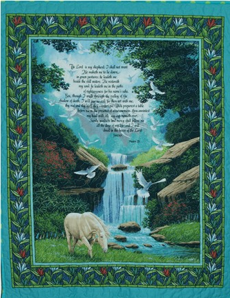 The Lord Is My Shepherd Wall Hanging