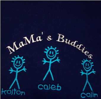 MaMa's Buddies with 3 boys Sweatshirt