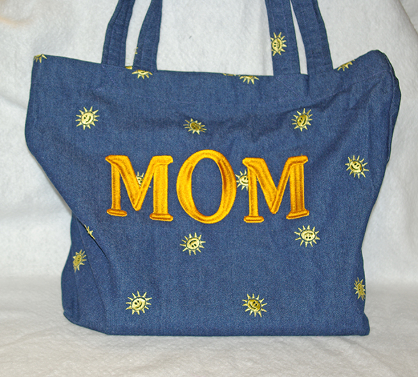 MOM Denim Tote Bag