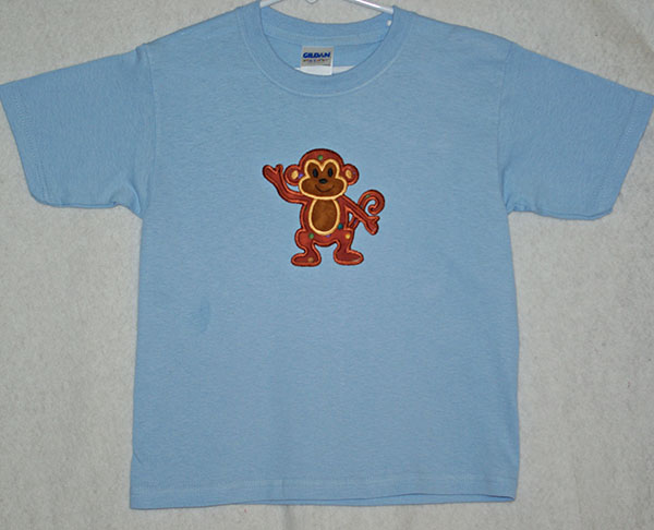 Appliqued Monkey Shirt