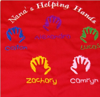 Nana's Helping Hands Apron with 5 names