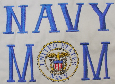 Navy Mom Apron