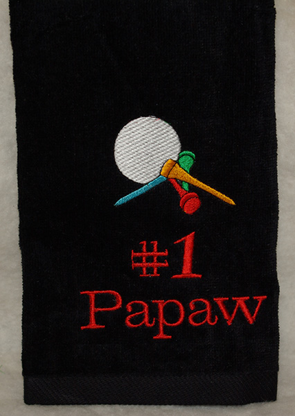 #1 Papaw Golf Towel