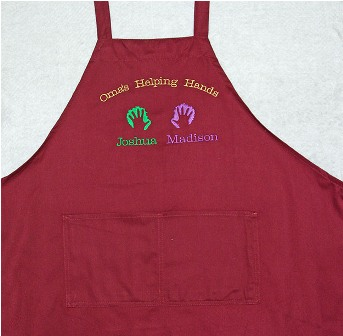 Oma's Helping Hands Apron with 2 names