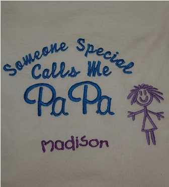 Someone Special Calls Me Papa 1 Girl Personalized Tee