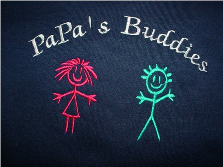 Papa's Buddies with 2 kids Sweatshirt