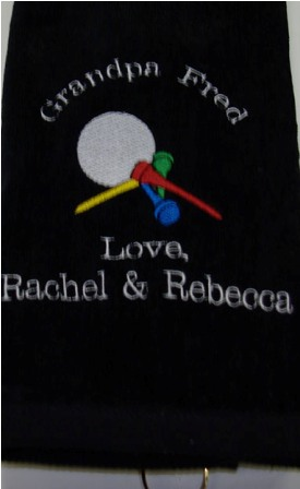 Grandpa Personalized  Golf Towel