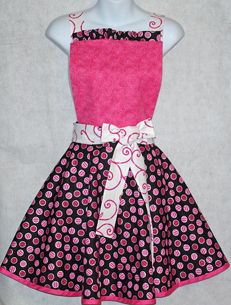 Pink and Black Diva Apron
