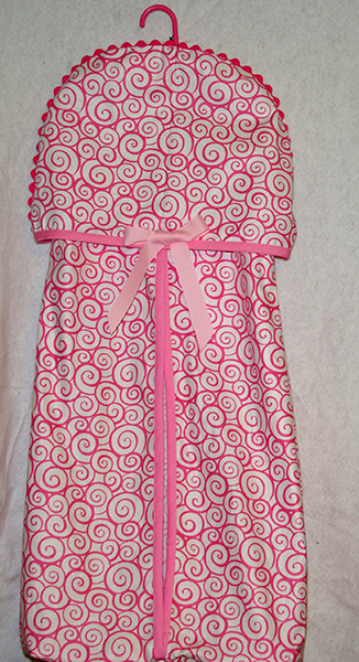 Pink Swirls Diaper Stacker