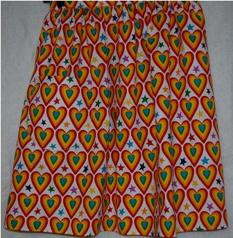 Red and Green Hearts Half apron
