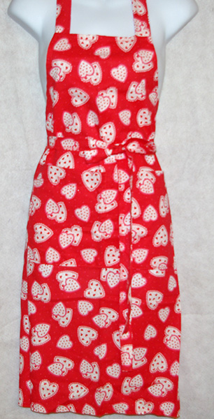 Multi-Red Hearts Apron
