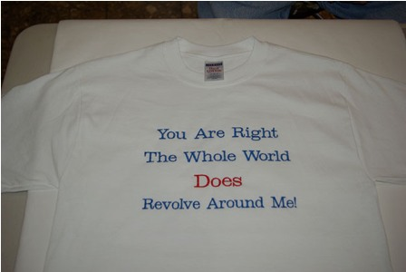 The Whole World Revolves Around Me Sweatshirt