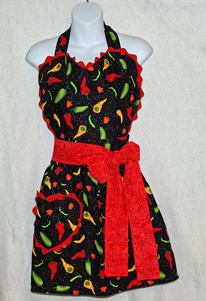 Sizzling Chili Peppers Apron