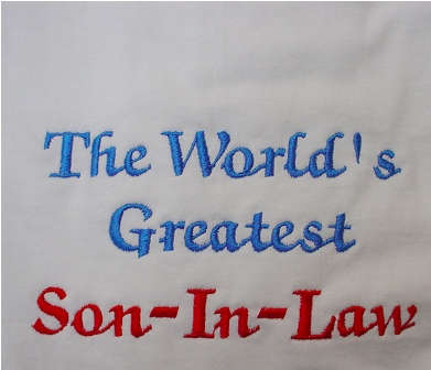 The World's Best Son-In-Law tee