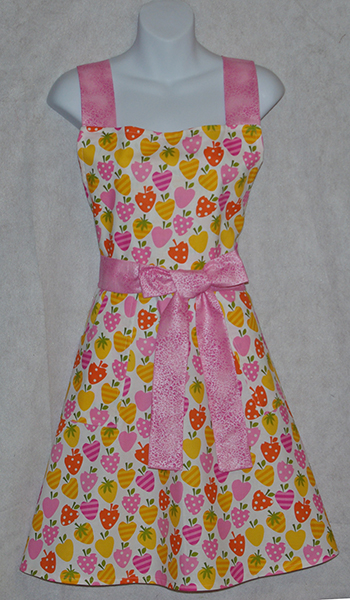 Pink Summer Strawberries Apron