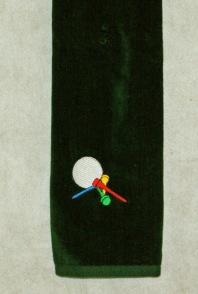 Golf Tees Green Golf Towel
