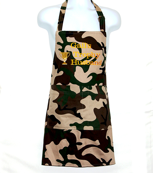 Trophy Husband Camouflage Full Size Apron