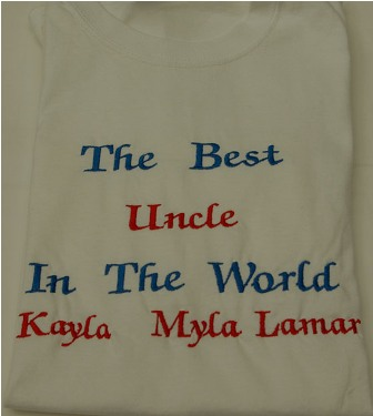 The Best Uncle in the World Personalized tee