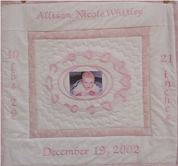 "Baby Photograph Wall Hanging 15"" x 15"""